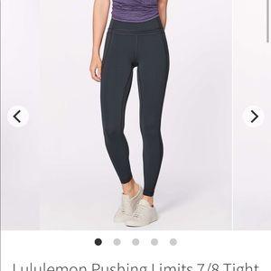 Lululemon pushing limits 7/8 tight